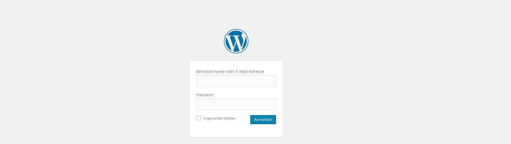 Wordpress Admin Loginseite